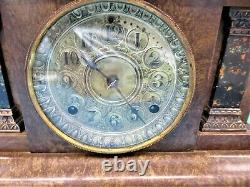 1880's Seth Thomas Adamantine Mantel Clock Professionally Cleaned Oiled Serviced