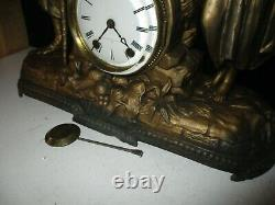 1880S SETH THOMAS AND SONS FIGURAL SHELF CLOCK REBECCA at THE WELL