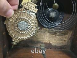 1880s Seth Thomas Eclipse Walnut Wall Clock Works Good