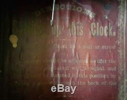 1888 SETH THOMAS WOODEN WALL CLOCK working