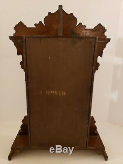 1888 SETH THOMAS Walnut Parlor Alarm Clock with Winward's Pat. Alarm Mechanism
