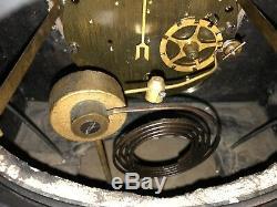 1890s Antique Seth Thomas Marble Slate Mantel Clock Open Escapement Working