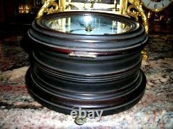 1891 Seth Thomas Mahogony Ships Clock With Strike & Sec. Hand- Very Rare Find