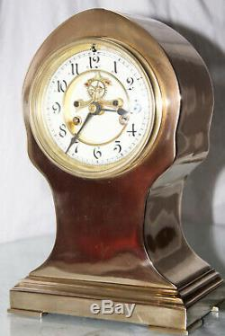 1898 Antique Waterbury Strikes Clock Totally Restored Open Escapement Mechanism