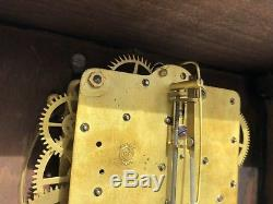 1910's Antique Seth Thomas Mantel Shelf Clock Working Adamantine