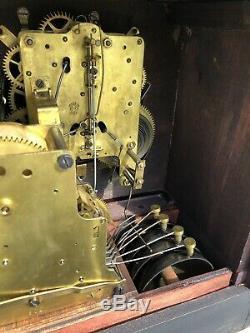 1910s Antique Seth Thomas Mantel Shelf Clock Adamantine Sonora 4 Bell Working
