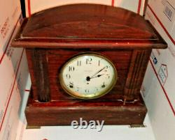 1920's Seth Thomas 8-Day Antique Mantle Clock with Key Vintage Desk Office