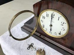 1920s Antique Seth Thomas Adamantine Mantel Shelf Clock Working Correctly