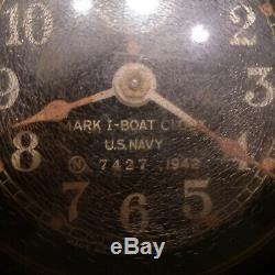 1942 US Navy Seth Thomas Ship Clock Unrestored Original