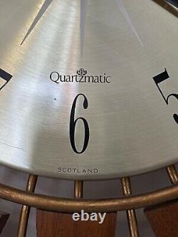1960s Retro Teak Seth Thomas Sunburst Starburst Wall Clock Mid Century 66.5cm