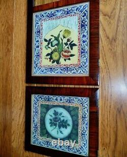 2 Seth Thomas Glass Tablets For Triple Decker Empire Antique Clock Parts