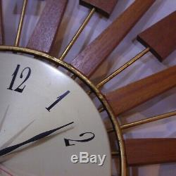 25 diameter seth thomas sunburst/starburst clock vintage retro
