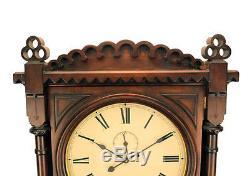 50H Seth Thomas Double Dial Office Perpetual Calendar No 5 Regulator Wall Clock
