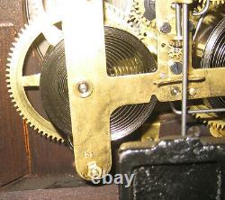 A Very Beautiful Working Seth Thomas Adamantine Finish Shelf Mantel Clock
