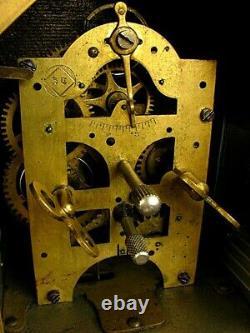 ANTIQUE SETH THOMAS COTTAGE CLOCK NOVELTY ALARM CLOCK c. 1880