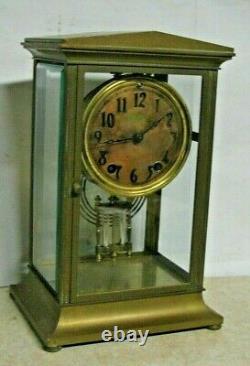 ANTIQUE SETH THOMAS EMPIRE No. 23 CHIME CLOCK CRYSTAL REGULATOR 8 DAY WORKING 48N