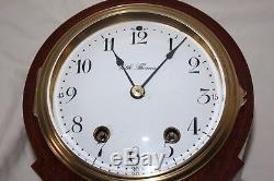 ANTIQUE SETH THOMAS SHELF MANTLE CABINET Model PARMA CLOCK -Restored-