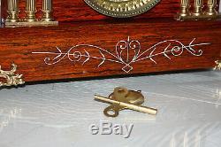 ANTIQUE SETH THOMAS SHELF MANTLE CLOCK-Totally! -Restored- Model LEEDS c/1905