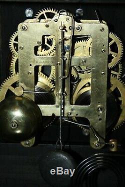 ANTIQUE SETH THOMAS SHELF MANTLE CLOCK-Totally! -Restored- c/1900