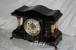 ANTIQUE SETH THOMAS SHELF MANTLE CLOCK-Totally! -Restored- c/1900- SHASTA- Model