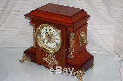 ANTIQUE SETH THOMAS SHELF MANTLE CLOCK-Totally! -Restored- c/1905 D-April-DURBIN