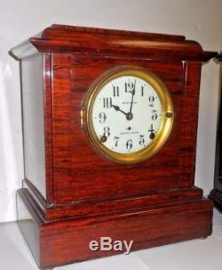 ANTIQUE SETH THOMAS SONORA ADAMANTINE 4 Bell WESTMINSTER CHIME CLOCK WORKING
