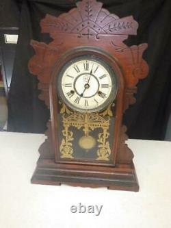 ANTIQUE SETH THOMAS WACO SHELF CLOCK CASE With LABEL WORKS
