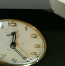 ART DECO Seth Thomas Alarm/Desk Clock-Marbelized Bakelite-Works and Keeps Time