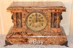 Amazing Antique Seth Thomas Butternut Adamantine Clock 1895