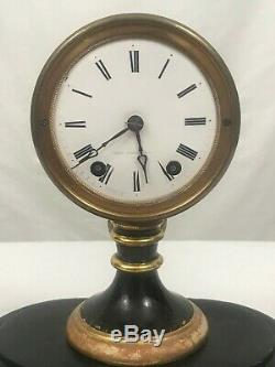 American Candlestick Clock with Dome. Seth Thomas & Sons. Late 19th Century