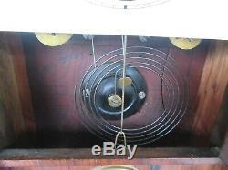 Anitque 1860's Seth Thomas Column Model Shelf Clock with Mirror (Works)