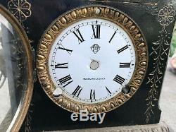 Ansonia St Clair Iron Cased Clock Non Working for Parts / Repair