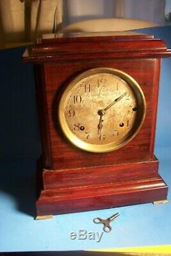 Anthique Seth Thomas Sonora 4 Bell Westminster Chimes Shelf Clock, L- D255