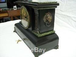Antique 1800's Seth Thomas Adamantine Chime Mantle Clock
