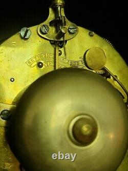 Antique 1872 Seth Thomas & Sons No. 4 Tucker Bronze Cast Metal Mantel Shelf Clock