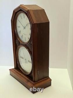 Antique 1876 SETH THOMAS Parlor Calendar No. 5 Double Dial Mantel Shelf Clock