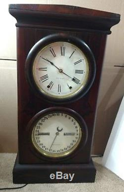 Antique 1876 Seth Thomas Mantel Calendar Clock Working orignal clock