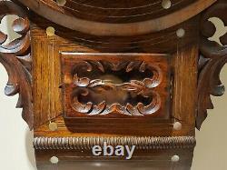 Antique 1880 SETH THOMAS Victorian Round Top Anglo American Regulator Wall Clock
