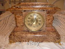 Antique 1880 Seth Thomas Adamantine NO. 102 Mantle Clock Key Wound RESTORED