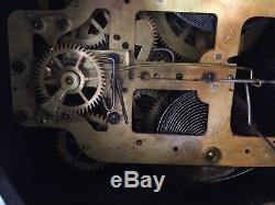Antique 1880 Seth Thomas Clock Co. Adamantine Mantle Clock with Key