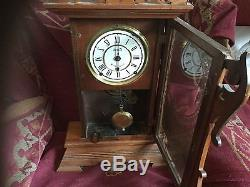 Antique 1886 August Dated Seth Thomas USA Large Mantle Clock Works Needs Attenti