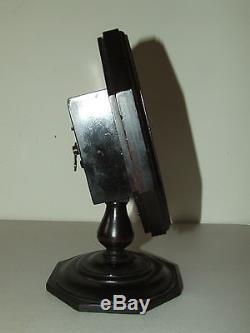 Antique 1920's SETH THOMAS Art Deco Mahogany Octagon Pedestal Base Desk Clock