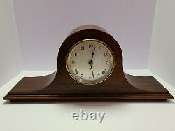 Antique 1920's SETH THOMAS Mahogany Art Deco Tambour Humpback Mantel Shelf Clock