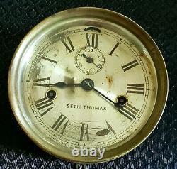 Antique 19th Century Working Seth Thomas Nautucal Ship Clock