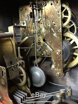 Antique 4 Bell SONORA CHIME Seth Thomas Clock Adamantine Mantel 8 Day Complete