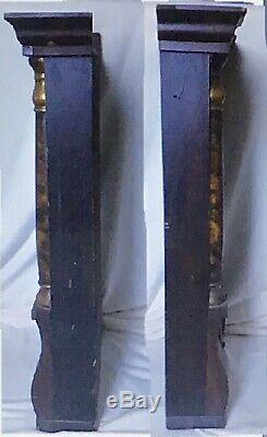 Antique 8 Day Seth Thomas Movement Triple Decker Style Vintage Mantel Clock