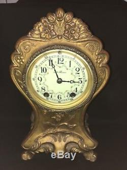Antique Bronze Seth Thomas Mantle Clock withkey
