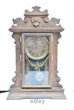 Antique Clock SETH THOMAS Model 298A Old Table Manle Clock 8 Day Gingerbread