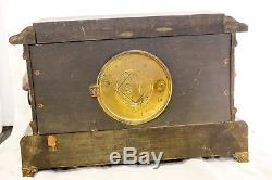 Antique Early 1900s Seth Thomas Adamantine Mantle Clock -For Parts / Repair