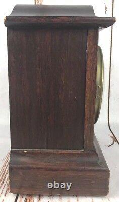 Antique JB Van Sciver Seth Thomas Mantel Shelf Clock with Key Vtg USA